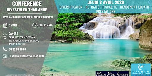 Conférence Investir en Thaïlande - Cahors le 2 Avril