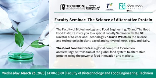Technion Faculty Seminar: The Science of Alternative Protein