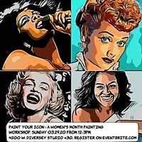 Paint Your ICON! Sip & Paint, Celebrate Women's Month