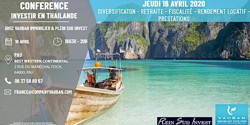 Conférence Investir en Thaïlande - Pau le 16 Avril