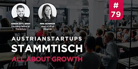 AustrianStartups Stammtisch #79: All about Growth tickets