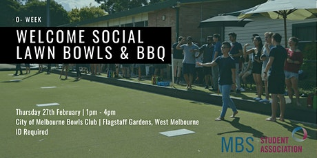 MBBSA Welcome Social: O-Week Lawn Bowls & BBQ, 2020 tickets