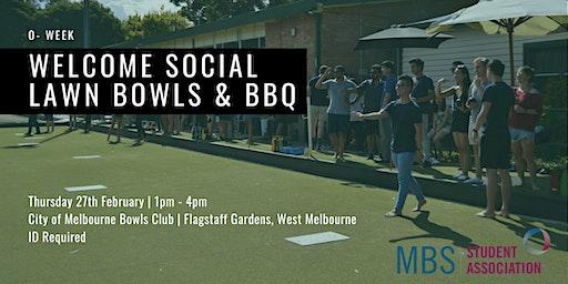 MBBSA Welcome Social: O-Week Lawn Bowls & BBQ, 2020