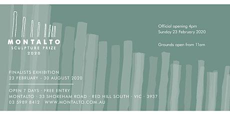 2020 Montalto Sculpture Prize announcement tickets