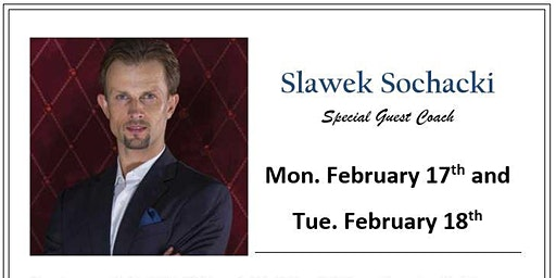 Special Guest Instructor - Slawek Sochacki