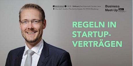 Regeln in Startup-Verträgen be content Meetup featuring Carsten Lexa Tickets