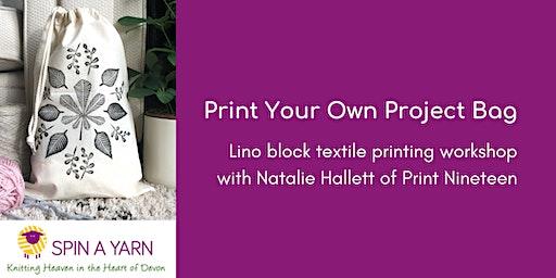 Print a Project Bag - Lino Block Textile Printing with Print Nineteen