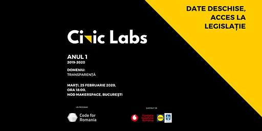 Transparență //  Date deschise & Acces la legislație // Civic Labs // AN 1