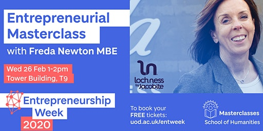 Entrepreneurial Masterclass with Freda Newton MBE, Loch Ness by Jacobite