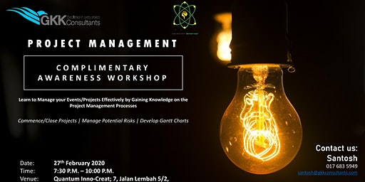 Project Management Complimentary Workshop
