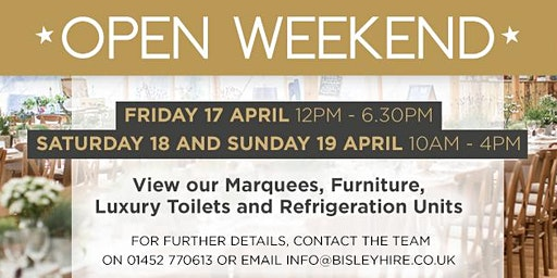 Bisley Marquees Open Weekend - April 2020