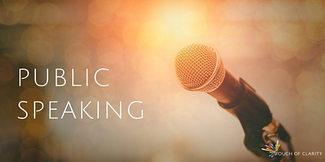 TBC: Public Speaking - in person training tickets