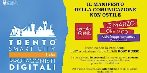 "Appuntamento con ""Parole Ostili"" - Protagonisti Digitali Trento Smart City"