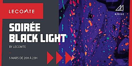 Soirée Black Light Maniak Nivelles / Jeudi 5 mars 20h  - 23h tickets