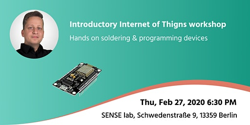 Introductory Internet of Thigns workshop (hands on soldering & programming)