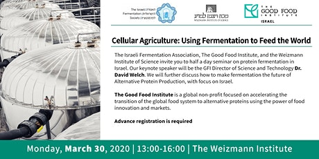 Cellular Agriculture: Using Fermentation to Feed the World tickets