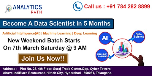 Enroll For Data Science Training New Weekend Batch From 7th March At 9 AM