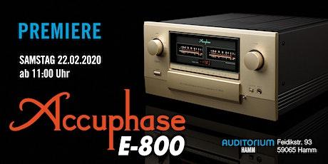 PREMIERE: Accuphase E-800 im AUDITORIUM Hamm Tickets