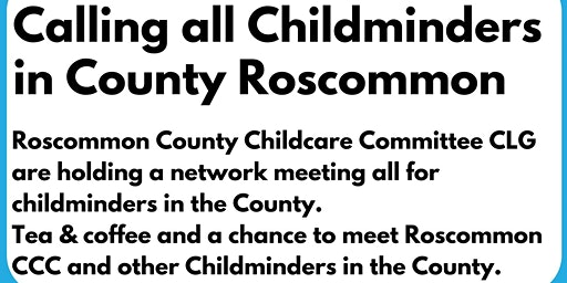 County Roscommon Childminding Network Evening