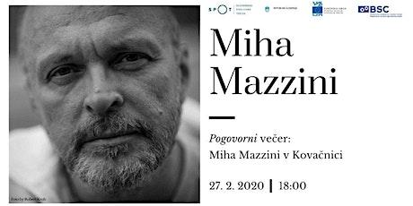 Pogovorni večer: Miha Mazzini v Kovačnici tickets