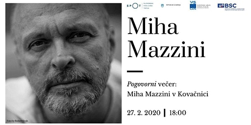 Pogovorni večer: Miha Mazzini v Kovačnici