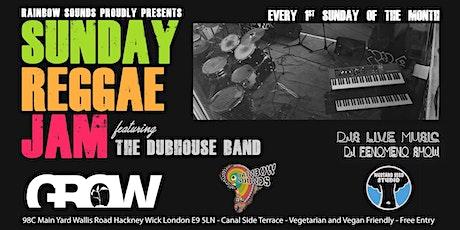 Live music // Sunday Reggae Jam // Monthly // Hackney Wick tickets