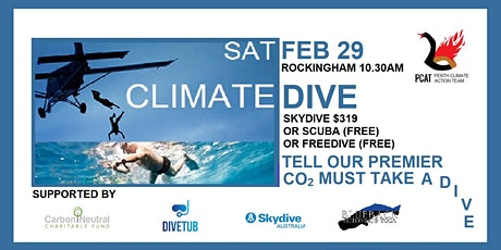 Climate Dive :  Saturday 29 February 2020 tickets