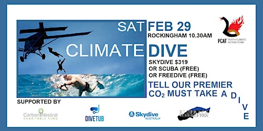 Climate Dive :  Saturday 29 February 2020
