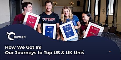 How We Got In! Our Journeys to Top US & UK Universities | SG tickets