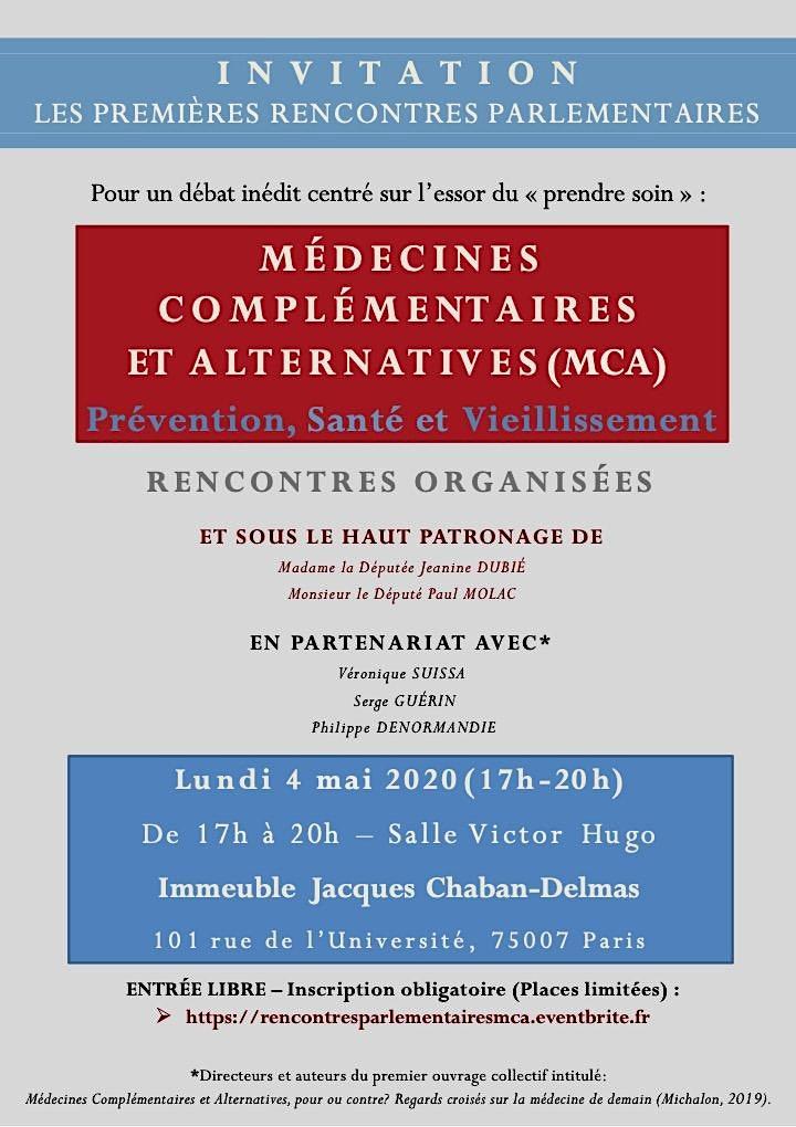 Image pour Les 1ères rencontres parlementaires: Médecines Complémentaires/Alternatives