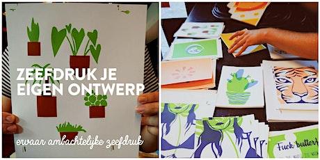 Workshop | Zeefdruk je eigen ontwerp! tickets
