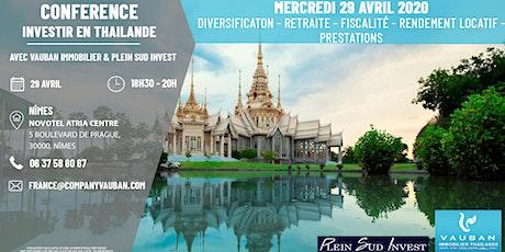 Conférence Investir en Thaïlande - Nîmes le 29 Avril billets