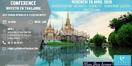Conférence Investir en Thaïlande - Nîmes le 29 Avril