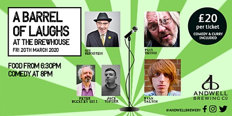 A barrel of laughs at the brewhouse tickets