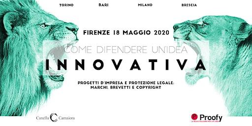 Come difendere un'idea innovativa® Tour 2020 – Firenze