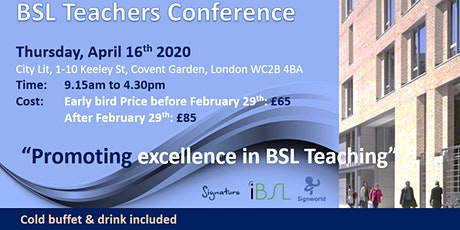 BSL Teachers Conference Programme 2020 tickets