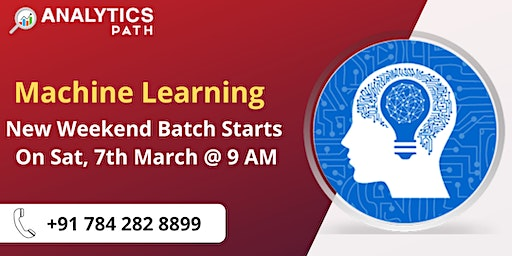 Register For New Weekend Batch On Machine Learning From 7th March At 9 AM