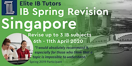 International Baccalaureate Easter Revision Course, Singapore tickets
