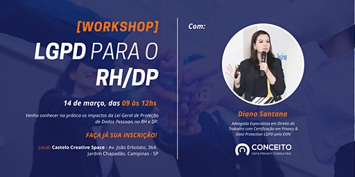 [WORKSHOP] LGPD PARA O RH/DP EM CAMPINAS