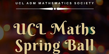 UCL Maths Spring Ball 2020 tickets