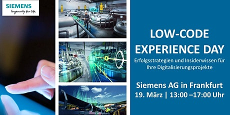 Low-Code Experience Day in Frankfurt Tickets