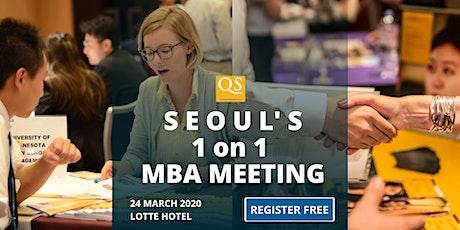 서울 MBA 밋업: 참가 무료- QS Seoul Connect MBA Meeting & Networking - Free Entry tickets