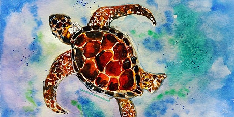 Sea Turtle Watercolour Workshop at Shop & Play Cafe-Sat, Mar 14// 1-3pm tickets