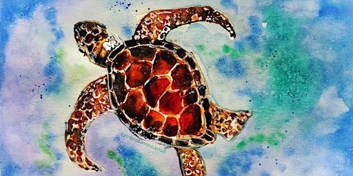 Sea Turtle Watercolour Workshop at Shop & Play Cafe-Sat, Mar 14// 1-3pm
