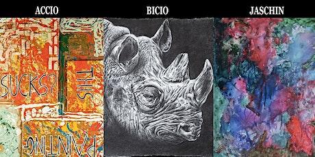 Mostre personali Di Accio, Bicio e Jaschin biglietti