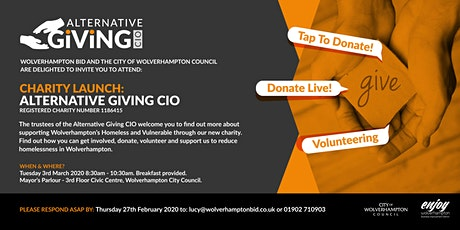 Charity Launch of Alternative Giving CIO  tickets