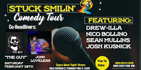 "Comedy Night with ""Stuck Smilin' Tour"" at Gypsy Moon Vapin' Brews tickets"