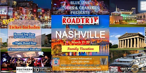 Road Trip & Vacation to Nashville