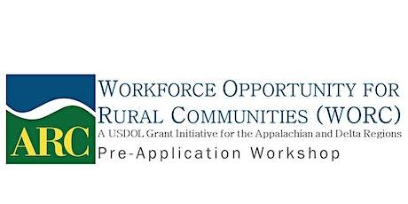 WORC Initiative Pre-Application Workshop tickets