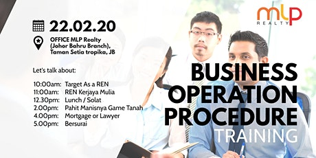 Business operation procedure (BOP TRAINING) tickets
